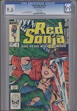 Red Sonja V3 #4  CGC 9.6 1984 Marvel Conan spin-off by Marvel: Mary Wilshire art