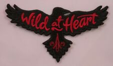 Embroidered Boho Wild At Heart Black Raven Crow Bird Red Applique Patch Iron On