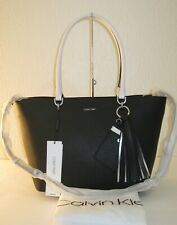 Calvin Klein Black Saffiano Leather Susan Tote Convertible Bag $228