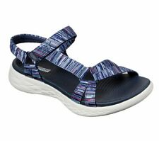 Women's Skechers ON THE GO 600 ELECTRIC Navy/Multi Sandals, Style# 140013/NVMT