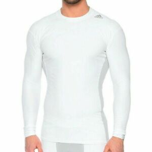 adidas Mens Techfit Chill White Long Sleeve Premium Compression Top S95686
