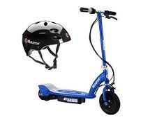 Razor E100 Motorized 24V Electric Scooter (Blue) & Youth Sport Helmet (Black)