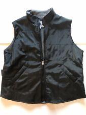 COOLWEAR Women's Black Gray Sleeveless Full Zip Fleece Lined Winter Vest Size L