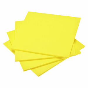 Yellow EVA Foam Sheets 10 x 10 Inch 7mm Thickness for Crafts DIY Projects, 4 Pcs