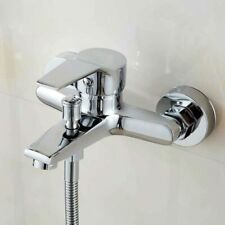 Wall Mounted Bathtub Faucet Waterfall Bath Faucet Brass Chrome Bath Shower Mixer
