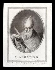 santino incisione 1800 S.AGOSTINO