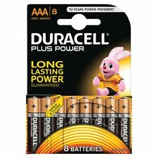 8 x Duracell AAA Plus Power Batteries - LR03, MN2400, MICRO