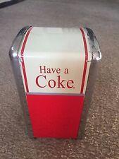 Have A Coke Napkin Dispenser Holder Coca-Cola 1992 Palmer Products Nice!
