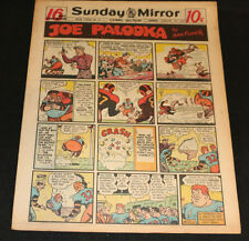 1950 Sunday Mirror Weekly Comic Section January 29th (Vf) Superman vs Knights