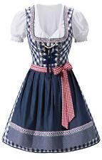 German Ladies Dirndl Trachten Dress Oktoberfest Bavarian Costume S-XXL