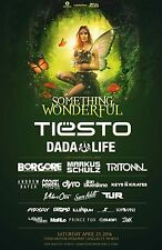 "TIESTO/DADA LIFE ""SOMETHING WONDERFUL"" 2016 DALLAS CONCERT TOUR POSTER-EDM Music"