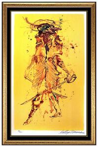LeRoy Neiman The Captain Color Serigraph Hand Signed Modern Portrait Artwork SBO