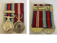 QUEENS DIAMOND JUBILEE MEDAL & OSM AFGHANISTAN  COURT MOUNTED WITH A PIN TO WEAR