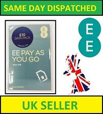 2 X EE 4G/3G Pay As You Go SIM PAYG (Nano/Micro/Standard) for All Mobile Phones