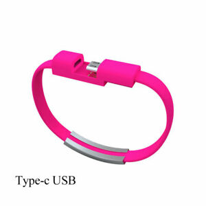 USB Sync Data Charger Bracelet for Apple/Android/Type-C Charger Power Cable Cord