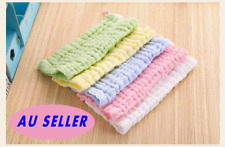 5PK Infant Kids Baby Bib Burp Washcloth Wash Cloth Muslin Cotton Bath Face Towel
