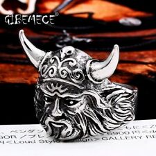 Fashion Cattle Heads Animal Ring Viking Vintage 3D Unisex Stainless Steel 316L