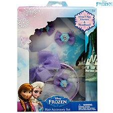 Set Accessori Per Capelli Frozen Con Frontino Elastici e Fermagli Bambine Kids
