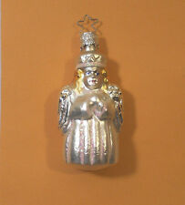 WEST GERMANY mercury glass Christmas ORNAMENT~SILVER ANGEL~vintage