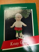 Vintage 1989 Hallmark Keepsake Kristy Claus Ice Skating Christmas Ornament