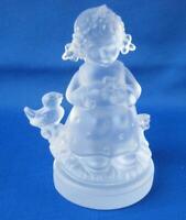 M I Hummel Goebel BOTANIST GIRL Frosted Crystal Figurine Germany