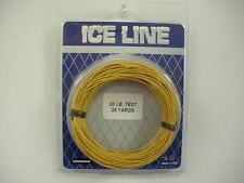 6 Pack of Gudebrod Ice Fishing Line - 20 Lb. Test - 25 Yd. Hand Coil - Tan