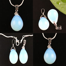 2Pc Opal/Opalite Teardrop Crystal Gemstone Floral Stone Bead For Jewelry Making