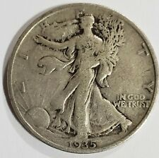 1935 Walking Liberty Half Dollar Fine Condition 90% Silver US Coin C-1