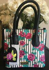 NWT Betsey Johnson LBKYLIE Floral Crossbody Bag Mini Satchel MSRP $68