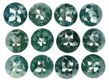 Natural Loose Diamond Round Rose Cut I3 Clarity Blue Color 12 Pcs 2.62 Ct L5057