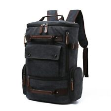 Backpack Mochila para hombre Mochila de lona vintage Bolsas de viaje para hombre
