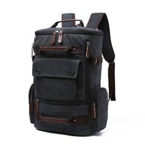 Men's Backpack Vintage Canvas Backpack Men Travel School Bags Large Capacity Bag