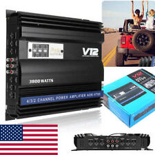 3800 Watt Car Audio Power Stereo Amplifier RMS 4 CH Channel Powerful PWM 4Ohm US