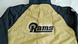 St. Louis Rams Reebok Reversible Hooded Fleece Jacket Adult XX-LARGE NFL ZIP UP