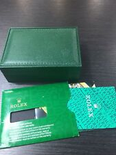Vintage ROLEX Swiss Green Watch Box 68.00.55. (NO PILLOW) with booklets