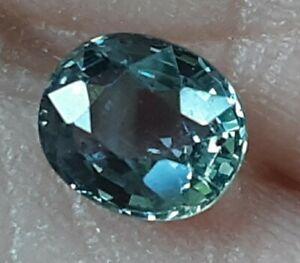 Fiery 0.80ct Natural Blue Green Oval Montana Mined Sapphire U.S. Seller
