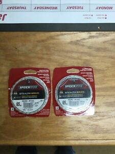 Spiderwire SCS65G-125 Stealth Braided Line 65/15lb/Dia 125yd Filler Spool Moss G
