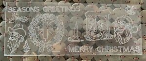 Special Tandy Craftaid Leather Craft Template CHRISTMAS Nativity Santa Cowboy