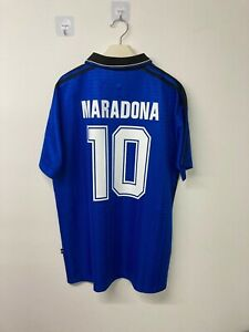 10 MARADONA 1994 Argentina Away Retro Jersey Football 1994 10