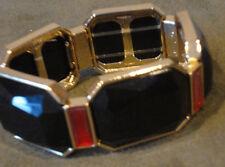 NEW Chico's Jenell Stretch Bracelet. Black & Red. A timeless palette.