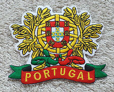 PORTUGAL LOGO LEAF PATCH Embroidered Badge Iron Sew 8cm x 7cm Portuguesa Biker