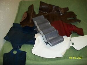 BT 4 Lizard Belly Leather W/ 2 Gray Sea /Whip Snake Skin Leather Lot FROM Estate