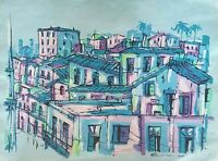 Carlos Eric Untitled Mixed on Paper 22X28 Original Painting Cuban Art 2001