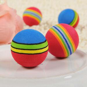 30Pcs Colorful Pet Cat Kitten Soft Foam Multi-colorPlay Balls Activity Toys VV