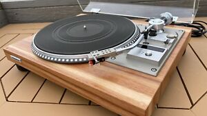 Pioneer PL-540 Turntable, NOS Shure M92E Cart, Hickory, New Cover/Feet