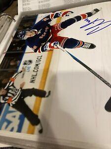 Oscar Lindberg Signed 8 X 10 New York Rangers