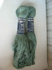 2 TAHKI STACY CHARLES 100% MERCERIZED COTTON CLASSIC YARN ~ COLOR #3758 Green