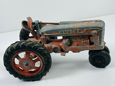 Vintage Hubley Spring loaded seat farm tractor toy truck