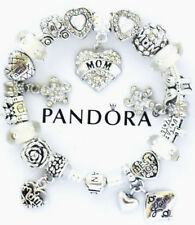 Pandora Charm Bracelet Silver White MOM Family Mother Day European Charms NIB