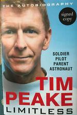 More details for tim peake autograph - limitless - hardback book signed - aftal
